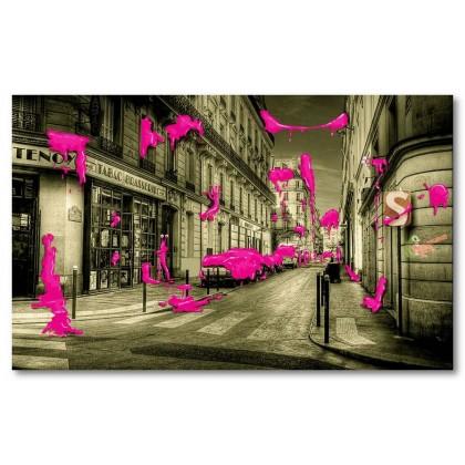 Αφίσα (τέχνη του δρόμου, κόκκινος, graffiti, αφηρημένο, μαύρο, λευκό, άσπρο)